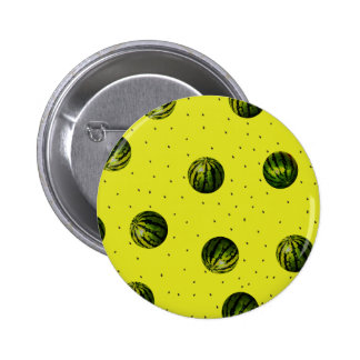 watermelon yellow with seeds 6 cm round badge