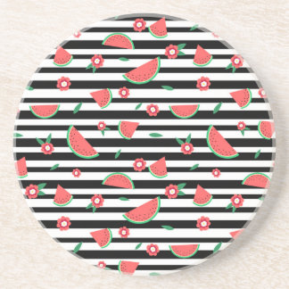 Watermelons and stripes coaster
