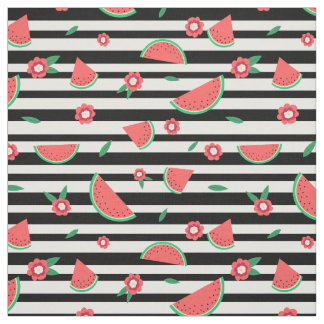 Watermelons and stripes fabric