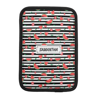 Watermelons and stripes iPad mini sleeves