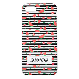 Watermelons and stripes iPhone 7 case