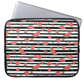 Watermelons and stripes laptop sleeves