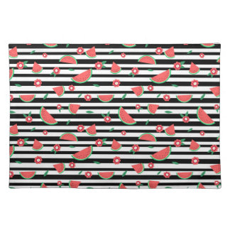 Watermelons and stripes placemat