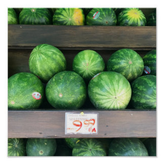 Watermelons for Sale Farmstand Market Melon Fruit Poster