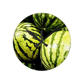 Watermelons Round Clock