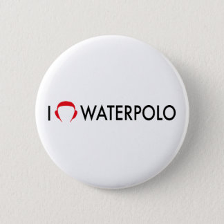 waterpolo 6 cm round badge