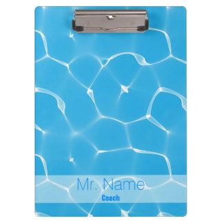 Waterpool Coach Custom Name Clipboard