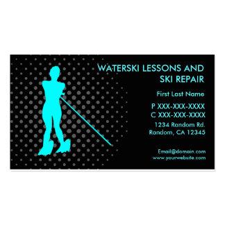 Waterski lessons ski repair custom business card
