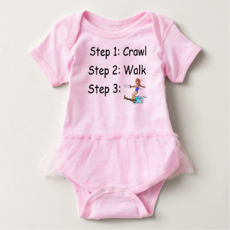 Waterskiing Waterskiier Girl Baby Bodysuit