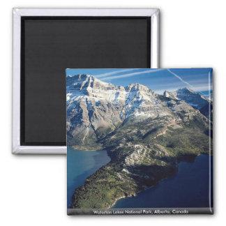 Waterton Lakes National Park, Alberta, Canada Square Magnet