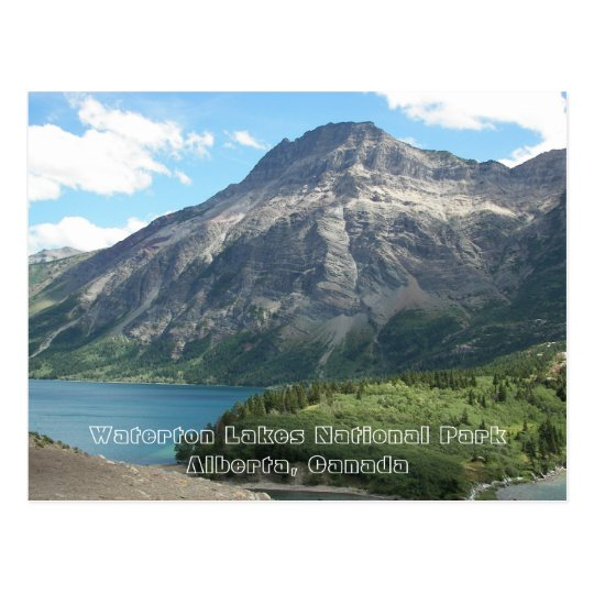 Waterton Lakes National Park Travel Photo Postcard