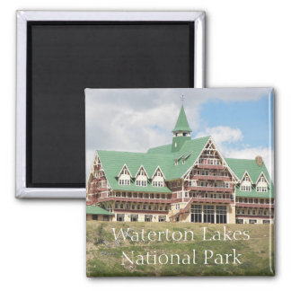 Waterton Lakes National Park Travel Photo Square Magnet