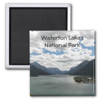 Waterton Lakes Travel Photo Square Magnet