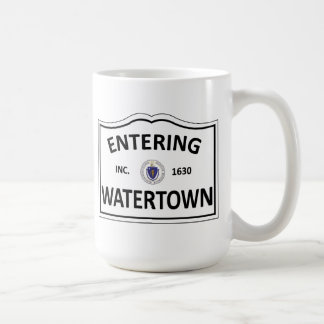WATERTOWN MASSACHUSETTS Hometown Mass MA Townie Coffee Mug