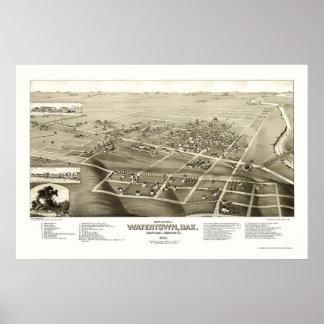 Watertown, SD Panoramic Map - 1883 Poster