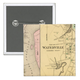 Waterville, Kennebec Co 15 Cm Square Badge