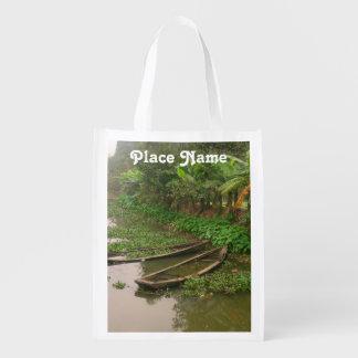 Waterway in Vietnam Reusable Grocery Bag