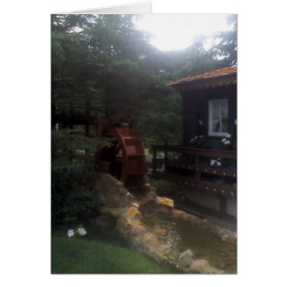 Waterwheel in an Amish Country Garden Greeting Card