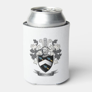 Watkins Family Crest Coat of Arms Can Cooler