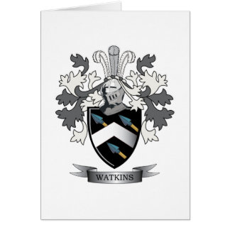 Watkins Family Crest Coat of Arms Card