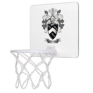Watkins Family Crest Coat of Arms Mini Basketball Hoop