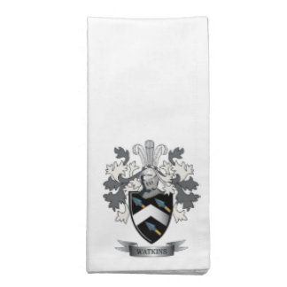 Watkins Family Crest Coat of Arms Napkin