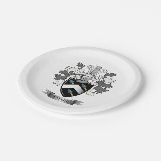Watkins Family Crest Coat of Arms Paper Plate