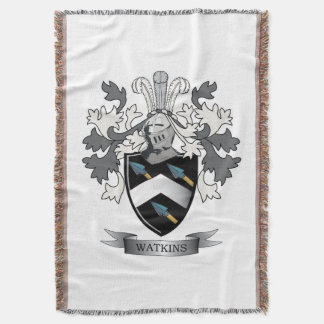 Watkins Family Crest Coat of Arms Throw Blanket