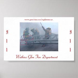 Watkins Glen Fire Department Poster