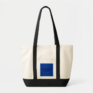 wats up people-go green impulse tote bag