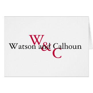Watson and Calhoun note Card