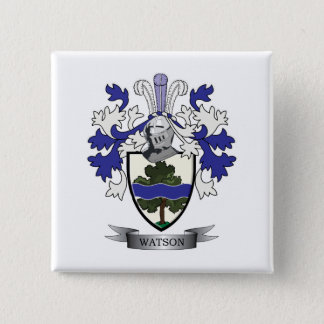 Watson Family Crest Coat of Arms 15 Cm Square Badge