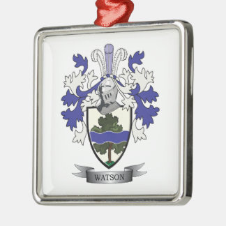 Watson Family Crest Coat of Arms Metal Ornament