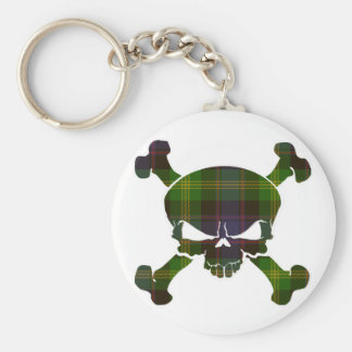 Watson Tartan Skull No Banner Basic Round Button Key Ring