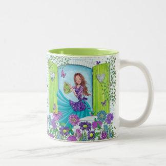 Wattering Flowers Garden Girl | Cute Mug