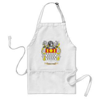 Watts Family Crest Coat of Arms Aprons