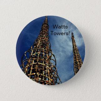 Watts Towers, Los Angeles 6 Cm Round Badge