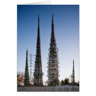 Watts Towers Los Angeles Card