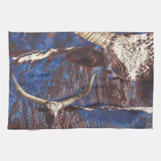 Watusi Blues Western Bull Kitchen Towel