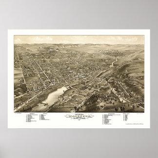 Waukesha, WI Panoramic Map - 1880 Poster