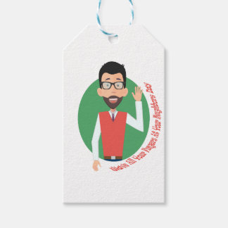 Wave All Your Fingers At Your Neighbors Day Gift Tags
