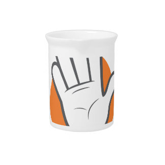 Wave All Your Fingers At Your Neighbors Day Pitcher