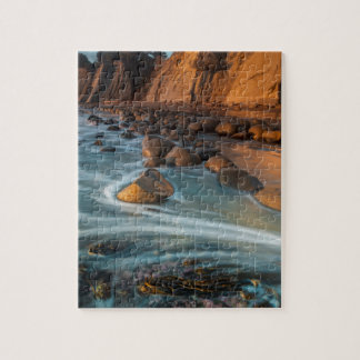 Wave along the beach, California Puzzle