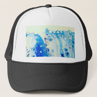 Wave And Bubbles Trucker Hat
