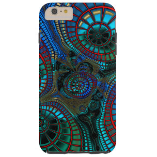 Wave and fractal abstract tough iPhone 6 plus case