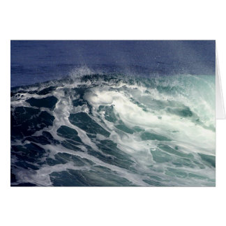 Wave At La Jolla Cove Card
