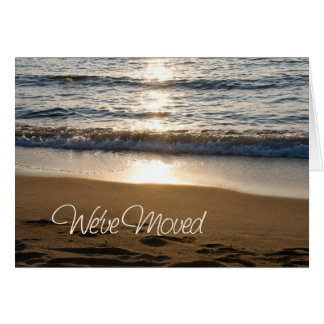 Wave at Sunset Change of Address Card