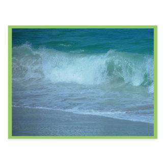 Wave Breaking At Quinns Beach Post Card