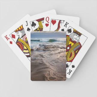 Wave breaking on beach, California Poker Deck