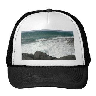 Wave Breaking On Big Rocks Trucker Hat